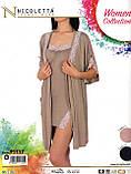 Комплект   халат и туника на бретелях  Nicoletta 91117, фото 8