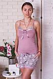 Комплект тройка  халат, майка, шорты Nicoletta, фото 3