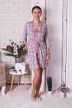 Комплект тройка  халат, майка, шорты Nicoletta, фото 6