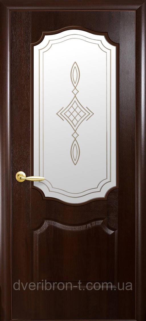 Двери Новый Стиль Вензель + Р1 каштан, коллекция ФОРТИС De Luxe P
