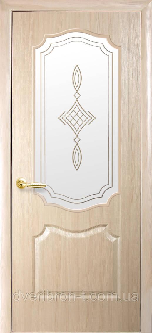 Двери Новый Стиль Вензель+ Р1 ясень, коллекция ФОРТИС De Luxe P