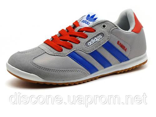 Кроссовки спортивные Adidas Samba унисекс, комбинированные, серые