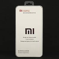Защитное стекло 9D Full Glue для Xiaomi Mi 8 полноэкранное черное Box