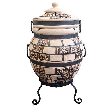 Тандыр подарочный на 45 литров. Дизайн «Кирпич», фото 2