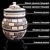 Тандыр подарочный на 45 литров. Дизайн «Кирпич», фото 4