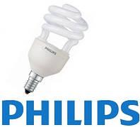 Лампа энергосберегающая PHILIPS Econ Twister 12W WW 220-240V E14