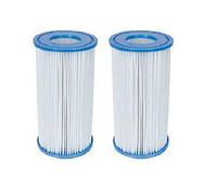 Сменный картридж для фильтр насоса Intex 29002 тип «А» 2 шт, 20 х 10.7 см
