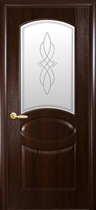 Двери Новый Стиль Овал + Р1 каштан, коллекция ФОРТИС De Luxe P, фото 2