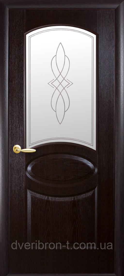 Двери Новый Стиль Овал+ Р1 венге, коллекция ФОРТИС De Luxe P