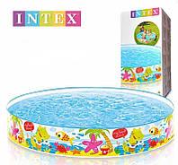 "Каркасный бассейн, детский бассейн Intex ""Весёлый пляж""  56451 NP, р-р 152 х 25см, 370 л, от 3-х лет"