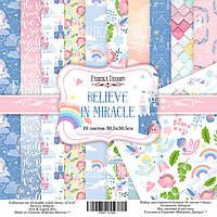 Набор бумаги для скрапбукинга Фабрика Декора 30,5*30,5см Believe in miracle 10л + бонус 200г/м2 FDSP-01042