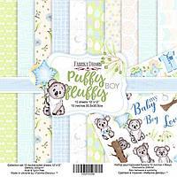Набор бумаги для скрапбукинга Фабрика Декора 30,5*30,5см Puffy Fluffy Boy 10л + бонус 200г/м2 FDSP-01059