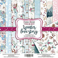 Набор бумаги для скрапбукинга Фабрика Декора 30,5*30,5см Winter Love Story 10л + бонус 200г/м2 FDSP-01061