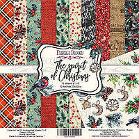 Набор бумаги для скрапбукинга Фабрика Декора 20*20см The spirit of Christmas 10л + бонус 200г/м2 FDSP-02060