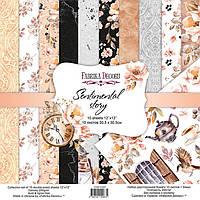 Набор бумаги для скрапбукинга Фабрика Декора 30,5*30,5см Sentimental story 10л + бонус 200г/м2 FDSP-01067