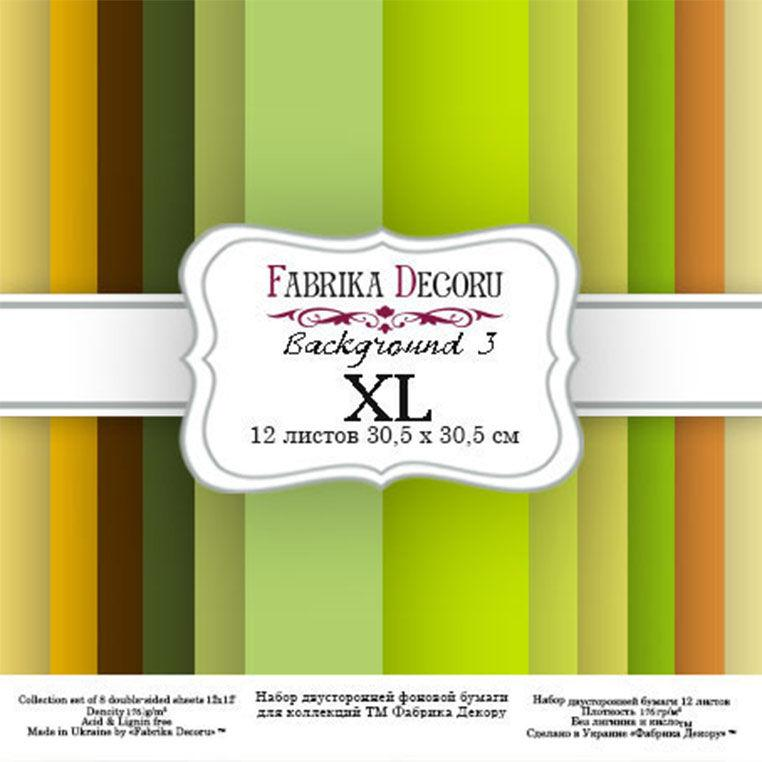 Набор бумаги для скрапбукинга Фабрика Декора 30,5*30,5см Backgrounds 3 XL 12л 175г/м2 FDSP-04003