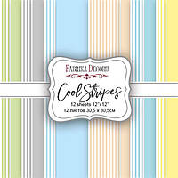 Набор бумаги для скрапбукинга Фабрика Декора 30,5*30,5см Cool Stripes 12л 175г/м2 FDSP-04009