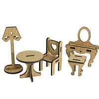 Заготовка для декорирования Фабрика Декора (ДВП 3мм) для оформления шедоубокса, №54 Набор мебели FDSBK-54