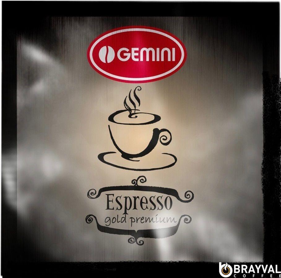 Кофе в монодозах Gemini Espresso Gold Premium 100 шт