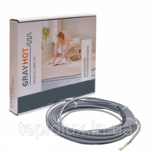Нагрівальний кабель GrayHot (92Вт/6м) 0,5-0,8 м2
