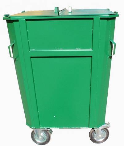 Контейнер для мусора КБМ-0,75 на колесах, фото 2
