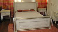 Двуспальная кровать из натурального дерева Италия