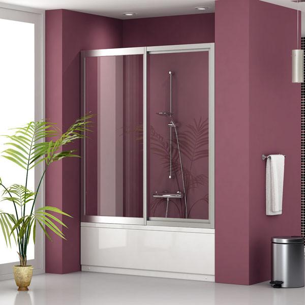 Шторка для ванной на 2 секции