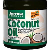 Органическое кокосовое масло первого отжима, для выпечки и косметических процедур, Jarrow Formulas, 474г.