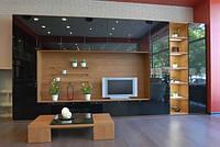 Стенки для гостиных в Киеве на заказ, мебель для гостиной в стиле модерн недорого