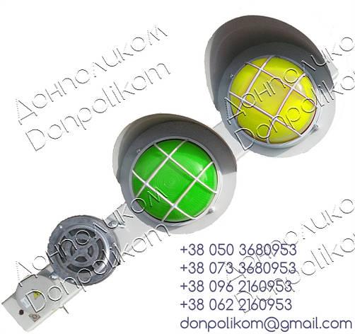 ПС-2 v3 - посты сигнальные с сигнальной сиреной СС-1 горизонтальное, зеленый и желтый, фото 2