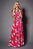 Очаровательное яркое платье в пол, р 42-44,44-46,46-48,48-50