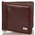 Мужской удобный кожаный зажим для купюр DESISAN (ДЕСИСАН) SHI208-10 коричневый, фото 2