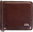 Мужской удобный кожаный зажим для купюр DESISAN (ДЕСИСАН) SHI208-10 коричневый, фото 3