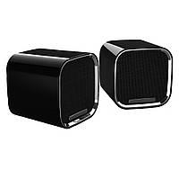 Колонки 2.0 HQ-Tech HQ-SPF508U Black, 2 x 3 Вт, пластиковый корпус, питание от USB, управление регулировка звука на кабеле