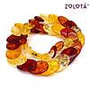Комплект (намисто + сережки) з бурштинової смоли, БС00007 (1), фото 2