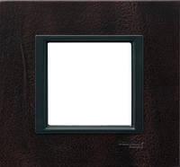Накладка для розеток выключателей Schneider electric Unica class кожа трюфель