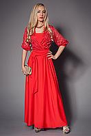 Платье женское гипюровое размер 40-42,44-46,48-50 коралл