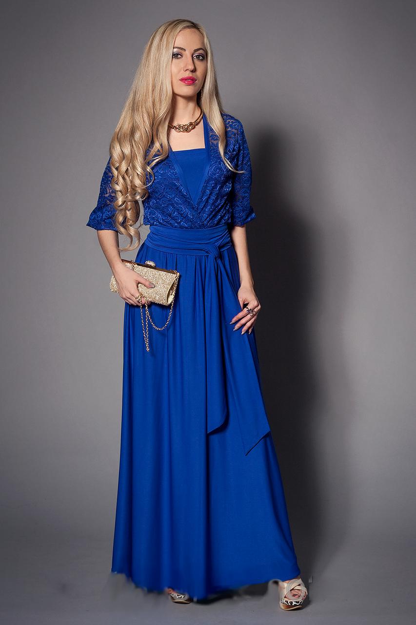 Сукня жіноча гіпюрову розмір 40-42,44-46 електрик