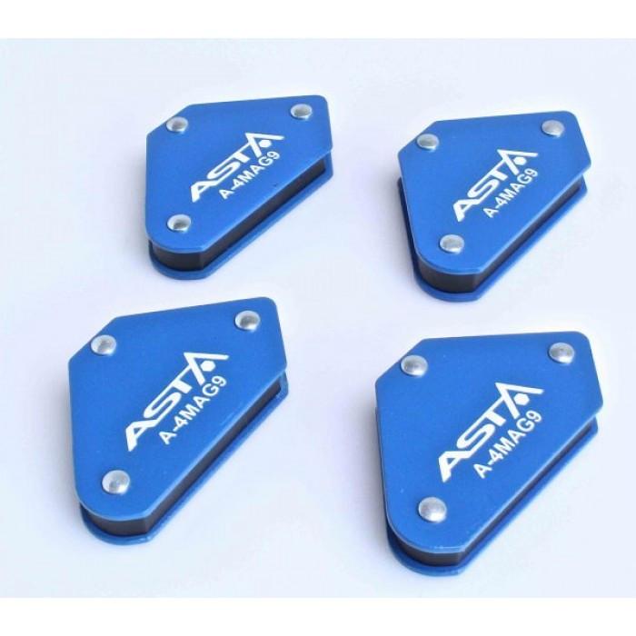 Магнитные струбцины для сварки набор 4 шт, 9 кг, ASTA A-4MAG9