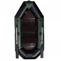 Гребная надувная лодка AquaStar B-249 FFD зеленая