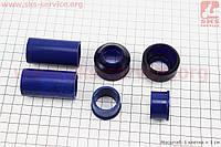 Ремонтный комплект передней вилки Yamaha JOG - втулки 4шт под шток 22,0мм + пыльники 2шт