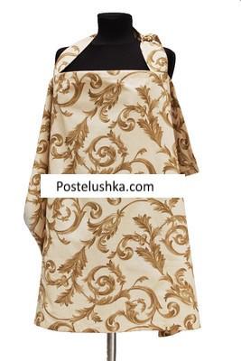 Накидка для кормления (бежевая с коричневым узором) - Интернет магазин Постелюшка (Домашний текстиль, сумки, товары для дома и отдыха) в Харькове