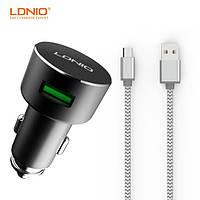 Автомобильное зарядное устройство и кабель Micro « Ldnio C308 » — 2 USB — 3.6 A — Black