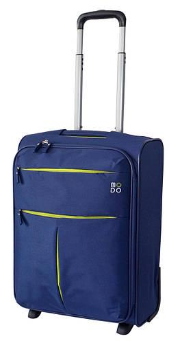 Качественный тканевый дорожный чемодан 2-х колесный 39 л. Roncato Modo Air 5303/03 синий