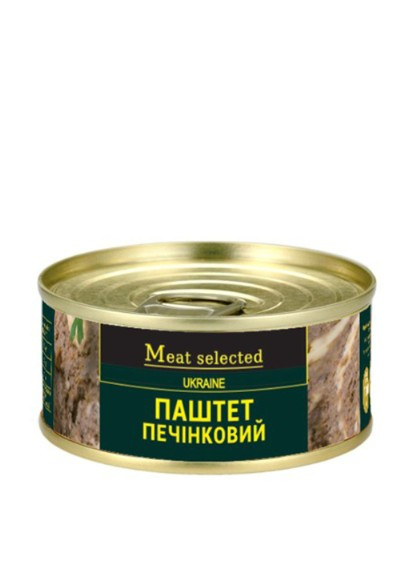 "Паштет печiнковий  ""Meat selected"" 100г металева банка ключ"
