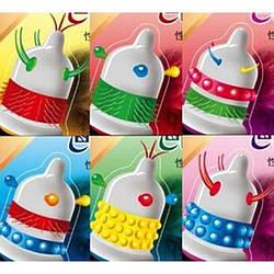 Презервативы с шариками и усиками (6 шт в упаковке)