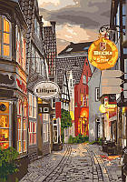Картина по номерам KH3548 Уютный переулок (40 х 50 см) Идейка