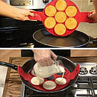 Форма силиконовая для приготовления яичницы, омлета, блинов, картофельных оладий., фото 5