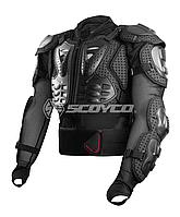 SCOYCO Titan Black Body Armor, S Мотозащита тіла (черепаха захисна)