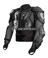 SCOYCO Titan Body Armor Black, S Мотозащита тела (черепаха защитная)